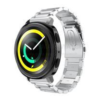 Pulseira de Metal Inox Prata para Relógio Samsung Galaxy Gear Sport R600 - Tudo Smartwatch