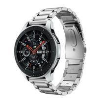 Pulseira de Metal Inox Prata para Relógio Samsung Galaxy Watch 46mm - Tudo Smartwatch