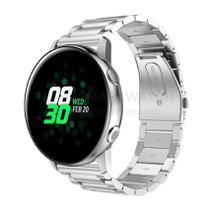 Pulseira de Metal Inox Prata para Relógio Samsung Galaxy Watch Active - Tudo Smartwatch