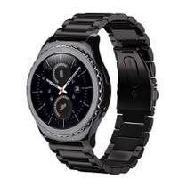 Pulseira de Metal Inox Preto para Relógio Samsung Galaxy Gear S2 Classic -