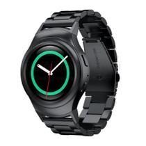 Pulseira de Metal Inox Preto para Relógio Samsung Galaxy Gear S2 Sport - Tudo Smartwatch