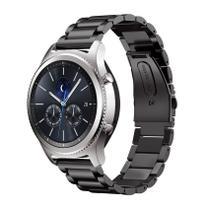Pulseira de Metal Inox Preto para Relógio Samsung Galaxy Gear S3 Classic - Tudo Smartwatch