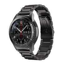 Pulseira de Metal Inox Preto para Relógio Samsung Galaxy Gear S3 Frontier - Tudo Smartwatch