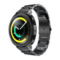 Pulseira de Metal Inox Preto para Relógio Samsung Galaxy Gear Sport R600 - Tudo Smartwatch