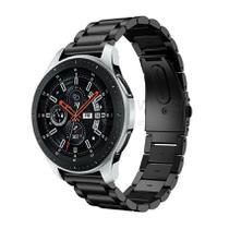 Pulseira de Metal Inox Preto para Relógio Samsung Galaxy Watch 46mm - Tudo Smartwatch
