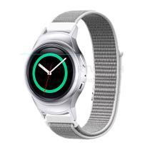 Pulseira de Nylon Cinza e Conector Prata para Relógio Samsung Galaxy Gear S2 Sport - Tudo Smartwatch