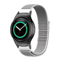 Pulseira de Nylon Cinza e Conector Preto para Relógio Samsung Galaxy Gear S2 Sport - Tudo Smartwatch