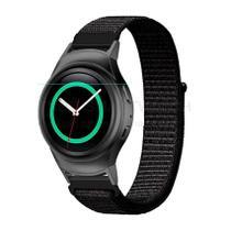 Pulseira de Nylon Preto e Conector Preto para Relógio Samsung Galaxy Gear S2 Sport - Tudo Smartwatch