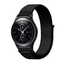Pulseira de Nylon Preto para Relógio Samsung Galaxy Gear S2 Classic - Tudo Smartwatch