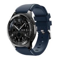 Pulseira de Silicone Azul Escuro para Relógio Samsung Galaxy Gear S3 Frontier - Tudo Smartwatch