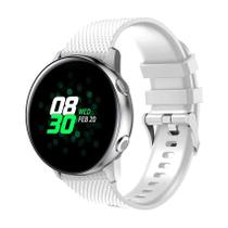 Pulseira de Silicone Branco para Relógio Samsung Galaxy Active - Tudo Smartwatch