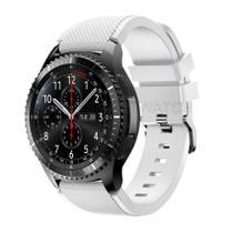 Pulseira de Silicone Branco para Relógio Samsung Galaxy Gear S3 Frontier - Tudo Smartwatch