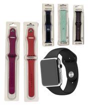Pulseira de Silicone Compatível Apple Watch 38, 40, 42  44mm Resistente Macio - Estiloso