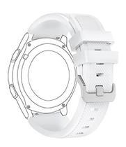 Pulseira De Silicone P/ Samsung Galaxy Gear S3 - Branca - Jetech