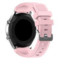 Pulseira De Silicone para Samsung Galaxy Gear S3 ou Watch 46mm - Rosa Claro - Jetech