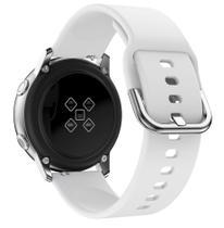 Pulseira De Silicone para Samsung Galaxy Watch Active - Branca / Jetech -