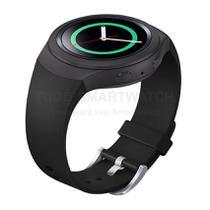 Pulseira de Silicone Preto para Relógio Samsung Galaxy Gear S2 Sport - Tudo Smartwatch