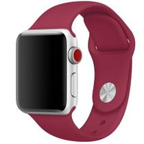 Pulseira De Silicone Sport Para Apple Watch 38mm - Rose Red