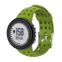 Pulseira de Silicone Verde Oliva para Relógio Suunto M1 / M2 / M4 / M5 Séries - Tudo Smartwatch