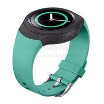 Pulseira de Silicone Verde Turquesa para Relógio Samsung Galaxy Gear S2 Sport - Tudo Smartwatch