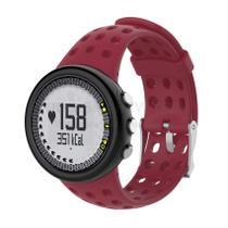 Pulseira de Silicone Vermelho Bordô para Relógio Suunto M1 / M2 / M4 / M5 Séries - Tudo Smartwatch