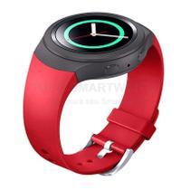 Pulseira de Silicone Vermelho para Relógio Samsung Galaxy Gear S2 Sport - Tudo Smartwatch