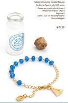 Pulseira dezena cristal nossa senhora aparecida 300 anos - Armazem