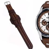 7168472d20c Pulseira em Couro Compatível com Relógio Fossil Ch2565 Tm 20mm