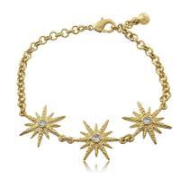 Pulseira Estrelas Cravejadas Folheada a Ouro - Flawless