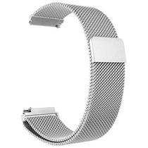 Pulseira Extra Metal Milanês Magnética 20MM Amazfi Bip Bip Lite Bip 2 - Prata - Fit It
