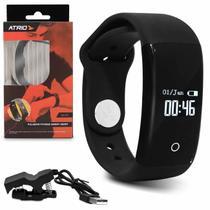 Pulseira Fitness Atrio Smart Hearth ES174 Bluetooth Monitor Cardíaco Indicador Calorias Sono Preto -