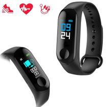 Pulseira Inteligente Smart M3 Monitor Cardíaco Relógio Bluetooth -