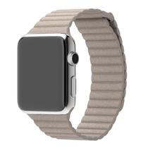 Pulseira Magnetica Couro Bege 42mm Apple Watch - Universal