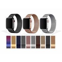 Pulseira Magnética Estilosa Milanese Para Apple Watch 38mm, 40mm, 42mm e 44mm Iwatch E Iwo 12 - Resistente