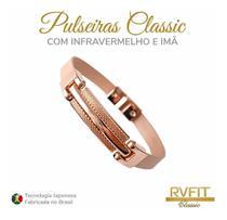 Pulseira magnética rvfit classic metal - rose gold -