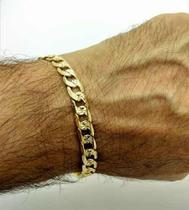 Pulseira Masculina Diamantada Banho Ouro 18k 1828 - Très Chic Joias