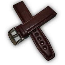 Pulseira  Mc de Couro Liso Marrom para Relógio Seculus Com encaixe de 22mm - Fullcapas