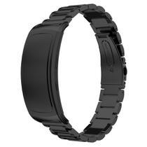 Pulseira Metal 3 Elos para Samsung Gear FIT 2 - Gear FIT 2 PRO - Preto - Ltimports