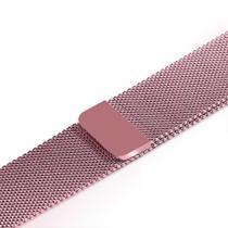 Pulseira Milanese de Aço de Ferro Para IWO8, IWO9 e IWO10 38mm 40mm Em Aço Inox - Rosa - Smart Bracelet