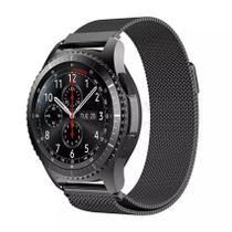 Pulseira Milanese Loop de Aço Inox Preto para Relógio Samsung Galaxy Gear S3 Frontier - Tudo Smartwatch