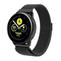 Pulseira Milanese Loop de Aço Inox Preto para Relógio Samsung Galaxy Watch Active - Tudo Smartwatch