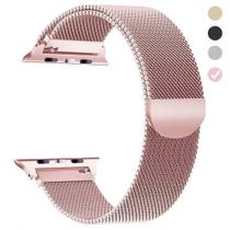 Pulseira Milanese Para Apple Watch 42mm 44mm Rose Gold - Bestchoice