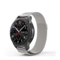 Pulseira Milanese Samsung Galaxy Watch Bt 46mm, Gtr 47mm, Gear S3, Gear 2, Gear 2 neo cor Prata - Tcshick