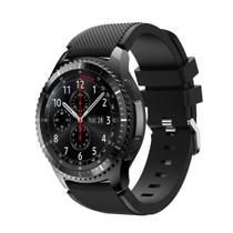 Pulseira Silicone Samsung Gear S3 E Galaxy Watch 46mm,Gtr 47mm, Gear 2, Gear 2 neo cor preto - Tcshick