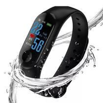 Pulseira smartwatch inteligente M3 monitor fitness - Tomate