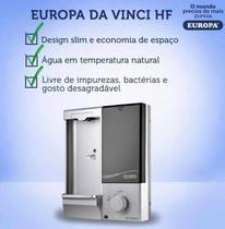 Purificador de Água Europa - Da Vinci HF Prata - Filtro De Água Natural -