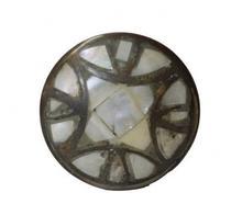 Puxador Decorativo Metal Detalhes Em Madrepérola - Venus