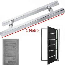 Puxador Porta Aco Inox 1 Metro Vidro Porta Pivotante Casa - Braslu