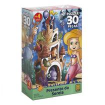 Puzzle 30 peças Presente da Sereia - Grow -