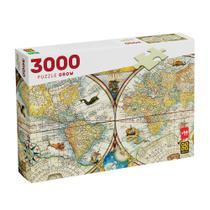 Puzzle 3000 peças Mapa Histórico - Grow